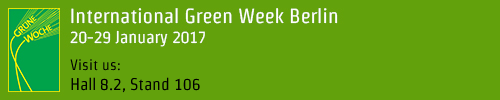 International Green Week 20-29 January 2017 Visit us: Hall 8.2, Stand 106